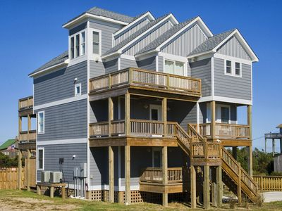 Photo for Lovely Oceanview Home in Salvo w/ Elevator, Pool, Hot Tub, Game Rm, Dog-Friendly