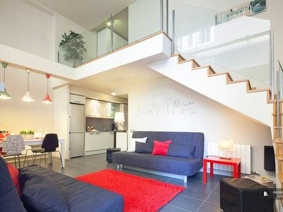 Photo for Friendly Rentals The Skyline Duplex Apartment in Barcelona