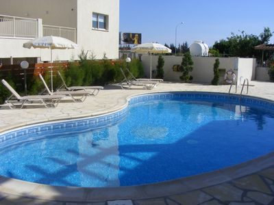 The pool and outside changing and toilet facilities.