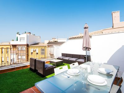 Photo for Air Conditioned Penthouse Apartment in Historic Centre with Rooftop Terrace & Wi-Fi; Pets Allowed, Street Parking Available