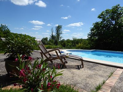 Photo for Sous les Arbres - private pool, great views, relax, unwind, get closer to nature