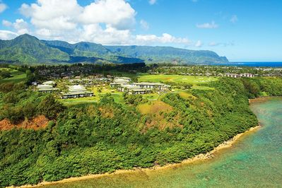 Stunning View of the beautiful Westin Princeville Resort!