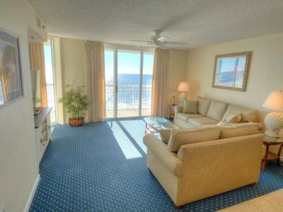 Photo for Crescent Shores N. -  602 Stunning ocean and beach views from this 3 bedroom condo!