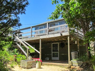 Photo for Cape cottage w/ a full kitchen & furnished deck - steps from private beach