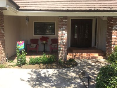 Welcoming front porch area