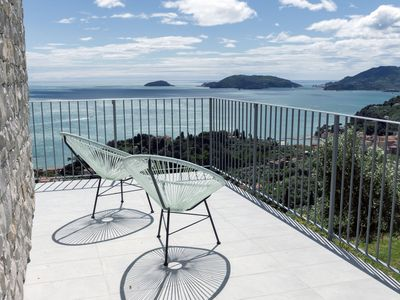 Photo for Stunning View on Lerici gulf! just new, pool, tennis, parking close to home.