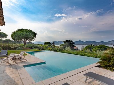Photo for GASSIN - PANORAMIC VIEW SEA AND VILLAGE SAINT-TROPEZ