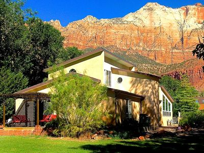 Photo for 6 BR Villa Downtown in Springdale UT SW of Zion Nat Park Sleeps 14 free parking