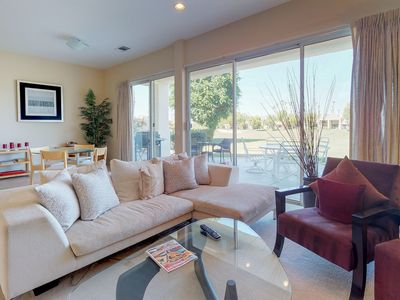 Photo for NEW LISTING! PGA West course-side house w/shared pool, hot tub & golf access