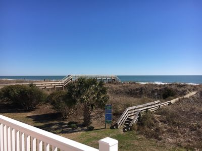 Downstairs balcony view - Walk right out to the beach from the Beach Access located downstairs.