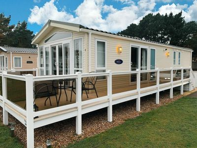 Photo for Stunning Lodge with a lake view at a Haven holiday park in Norfolk ref 11003PL