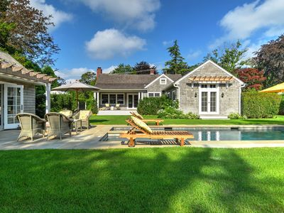 Photo for Walk to East Hampton Village from the sumptuously landscaped home!!