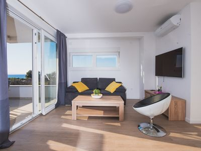 Photo for Superior Two-Bedroom App with Terrace and Sea View