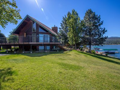 Photo for Amazing views! Waterfront home w/ private dock & 2 kitchens - dogs OK!