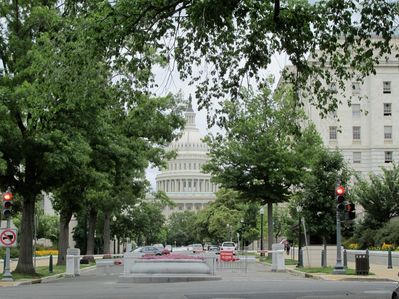 View from street in front of house.  Two blocks to U.S. Capitol.