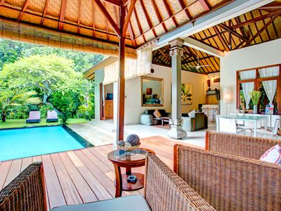 Photo for Serene 2 Bedroom Villa with large Secret Garden