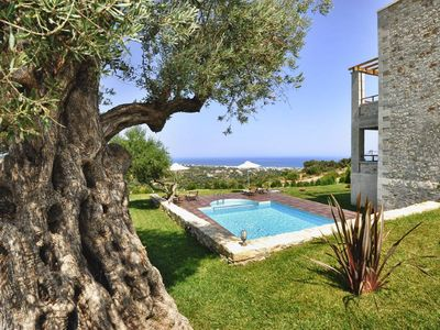Photo for Rethymnon: Luxury Villa with spectacular views of the sea and the sunset.