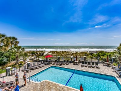 Photo for Large Oceanfront Two Bedroom Two Bath Condo at Carolina Dunes! (1st Floor)