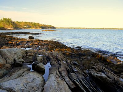 Photo for Right on the Water! Oceanfront Cottage in Freeport, Maine