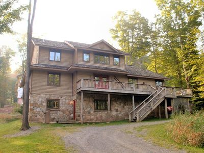 Photo for Stretch out in this fabulous Lodge directly beside the Trail!