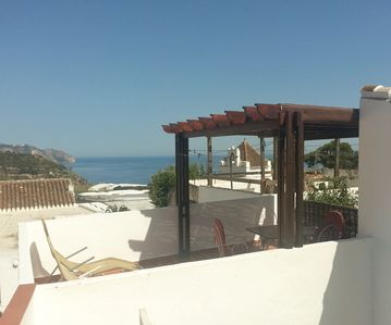 Photo for Village house with large rooftop terrace near the beach