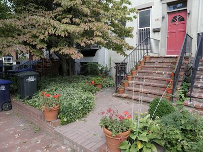 Photo for Charming Capitol Hill flat, free parking pass, 3 blocks from the Capitol