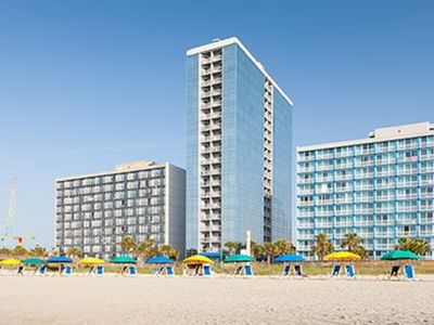 Photo for Oceanfront condo in Myrtle Beach in July