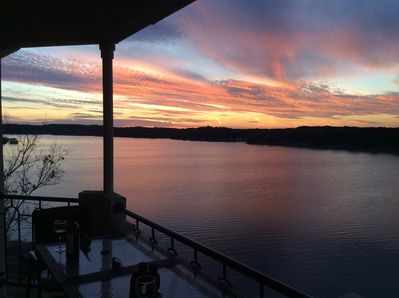 Sunset View of Lake Travis from Balcony