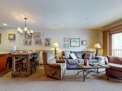 Photo for NEW LISTING! Walk to slopes from this condo w/great views, shared pool & hot tub