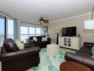 Photo for SeaSpray West 503- Beach Front Views from Terrace with Luxurious Interior!