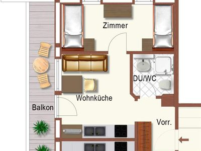 Photo for Apartment Astbergblick with 1 bedroom - Guggenhof