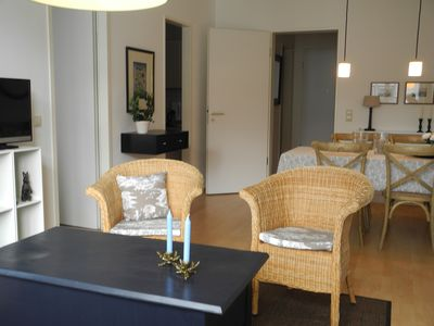 Photo for Bright 2 BR. Apartment, directly on the Elbe, Citynah, garage, great infrastructure