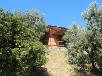 Photo for Cozy little house with view on the sea at Castagneto Carducci