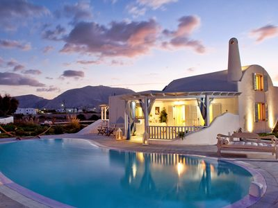 Photo for Amazing Villa Coquet Santorini, elegant 5 Bedrooms, with Private Pool and Chappel Up to 10 Guests