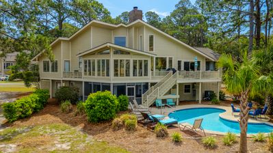Photo for 70 S. Sea Pines-Beautiful Views of Braddock Cove & a Quick Walk to the Beach.