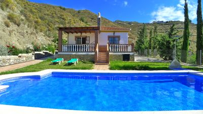 Photo for Delightful secluded country villa with A/C, swimming pool & spectacular views