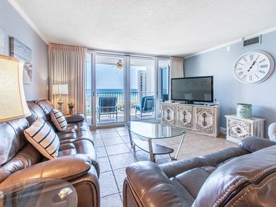 Photo for 2BR☀Shoreline Towers 3073☀ Steps2Bch☀Balcony + 7th Floor Gulf VIEWS! Pool+tennis