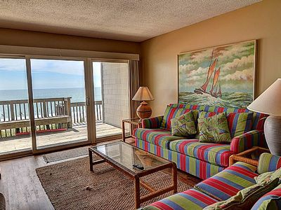 Photo for Queen's Grant B-105 - First Floor Oceanfront Condo with Community Pool, Hot Tub, Boat Ramp and Do...