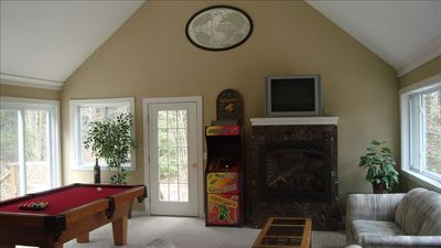 Large entertainment and game room for all ages