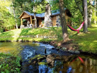 Photo for UpNorth Chalet ★ Cozy Fireplace ★ Private Hot Tub ★ Walk To Bay!