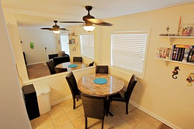 Sit and enjoy a home cooked meal while on vacation.