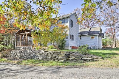 This vacation rental home sits on 8 beautiful acres in Saugerties!