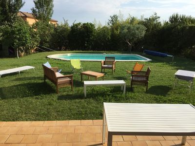 Photo for quiet family home, sleeps 6, pool near Aix en Provence.