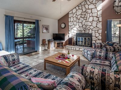 Photo for Cabin near Downtown w/ WiFi, Fireplace, Grill, Big Screen TV & Outdoor Hot Tub