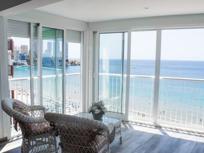 Photo for IMPRESSIVE NEW FLAT IN FIRST LINE BEACH LEVANTE WITH OWN PARKING