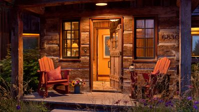 Photo for Luxury cabin in Teton Village with ski slope views