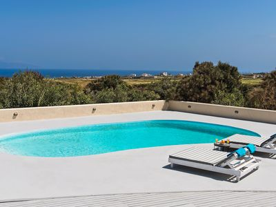 Photo for Best Choise, Villa Grande Terra Santorini, 8 Bedrooms 8 Bathrooms, Up to 20 Guests