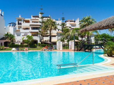 Photo for 3 bedroom Apartment, sleeps 6 in San Pedro with Pool, Air Con and WiFi