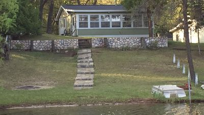 Photo for Quaint Up North cabin.  WATERFRONT!  Pet friendly.