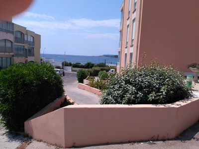Photo for ground floor studio sea view near sanary sur mer